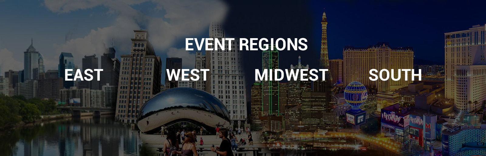 Events Regions East West Midwest South